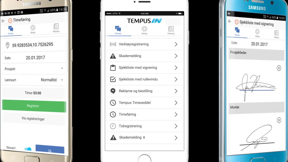 TempusIN - Elektroniske Skjemaer
