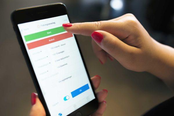 Visste du at dere også kan få tidsregistrering på mobil?